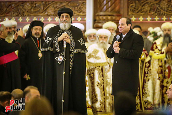 صور افتتاح كاتدرائية ميلاد المسيح (1)