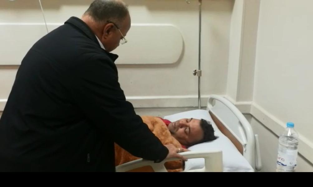 محافظ القاهرة يزور مصابى الشرطة بانفجار عزبة الهجانة (4)