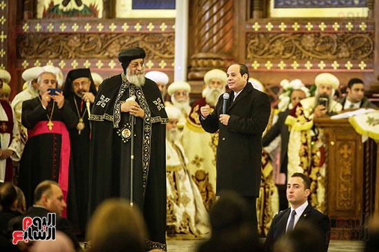 صور افتتاح كاتدرائية ميلاد المسيح (2)