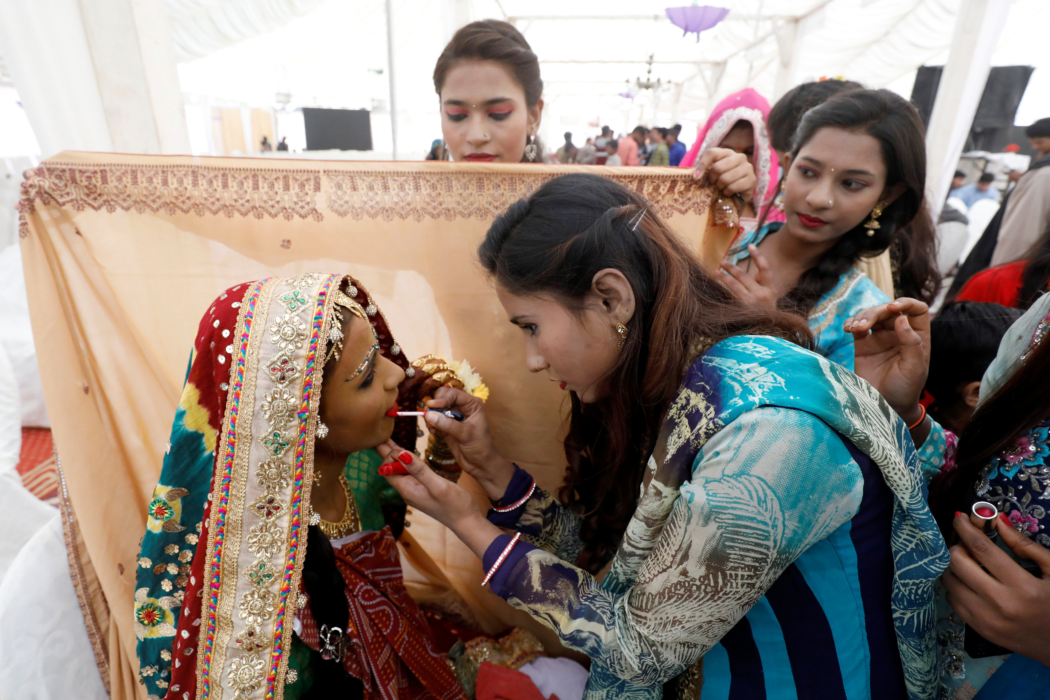 حفل زفاف جماعى للهندوس فى كراتشى (4)