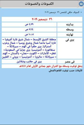 تطبيق اليكترونى لتفاصيل الشهور الهجرية (2)