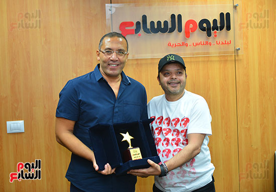 النجم محمد هنيدى فى ندوة فنية بـاليوم السابع (9)