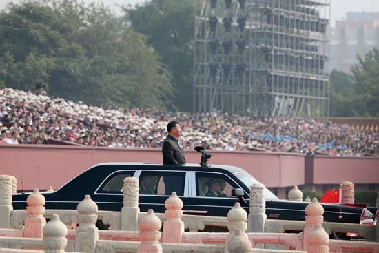 الرئيس الصينى خلال الاحتفالات
