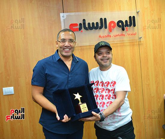 النجم محمد هنيدى فى ندوة فنية بـاليوم السابع (8)