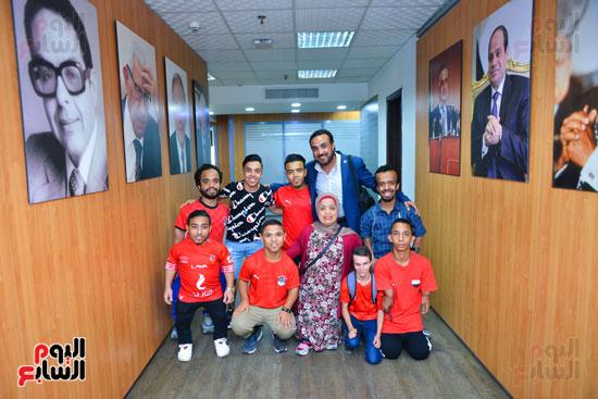 أول فريق كرة قدم لقصار القامة فى ندوة اليوم السابع (25)