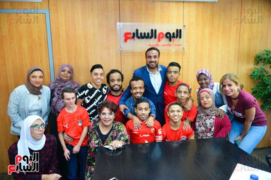 أول فريق كرة قدم لقصار القامة فى ندوة اليوم السابع (23)