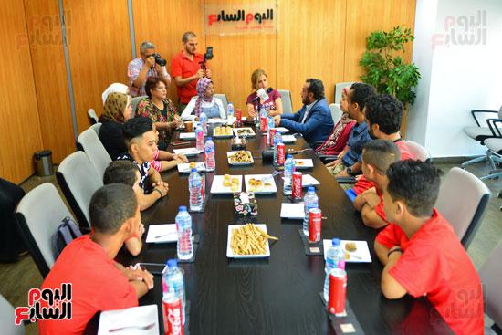 أول فريق كرة قدم لقصار القامة فى ندوة اليوم السابع (1)