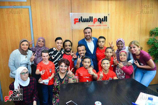 أول فريق كرة قدم لقصار القامة فى ندوة اليوم السابع (24)