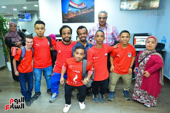 أول فريق كرة قدم لقصار القامة فى ندوة اليوم السابع (12)