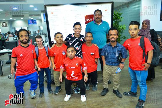 أول فريق كرة قدم لقصار القامة فى ندوة اليوم السابع (9)