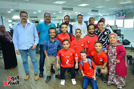 أول فريق كرة قدم لقصار القامة فى ندوة اليوم السابع (7)