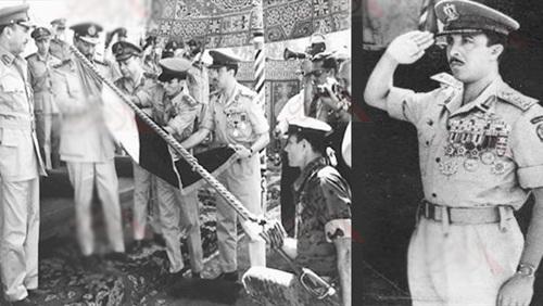الشهيد البطل إبراهيم الرفاعى مع الرئيس السادات