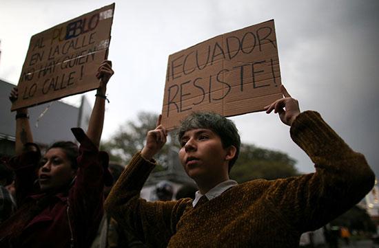 مظاهرت الاكوادور