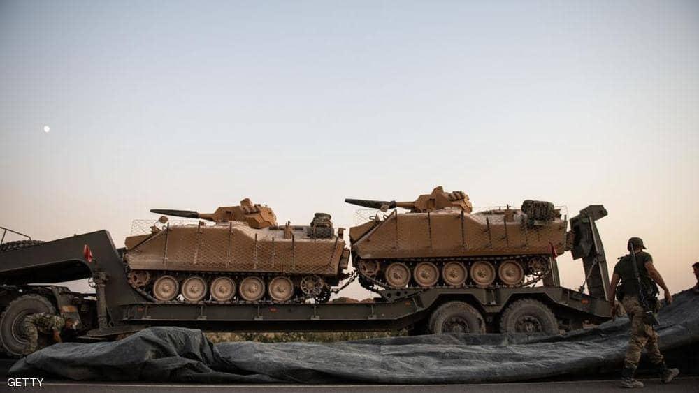 دبابات الاحتلال التركى