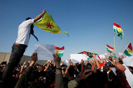 احتجاجاد ضد العدوان التركى