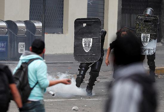 مواجهات بين المتظاهرين وقوات الأمن