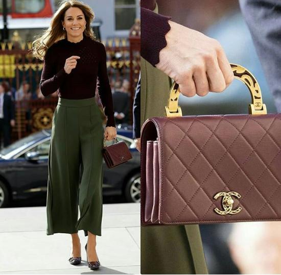 الأميرة كيت تحمل حقيبة يد مميزة من شانيل