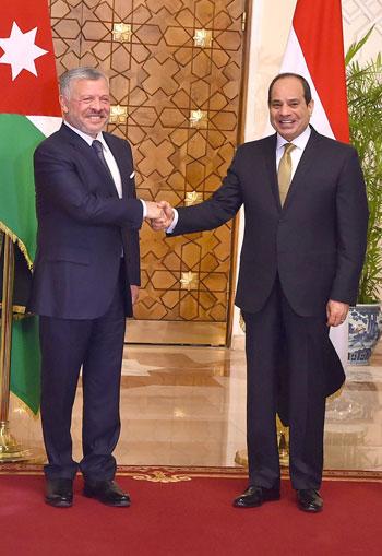 السيسى و الملك عبد الله الثانى (4)