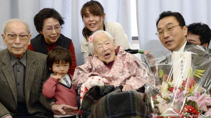 أكبر معمرة يابانية بـ 116 عام