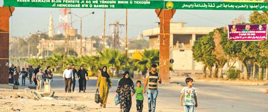 مدنيو-سوريا-يفرون-من-العدوان-التركى