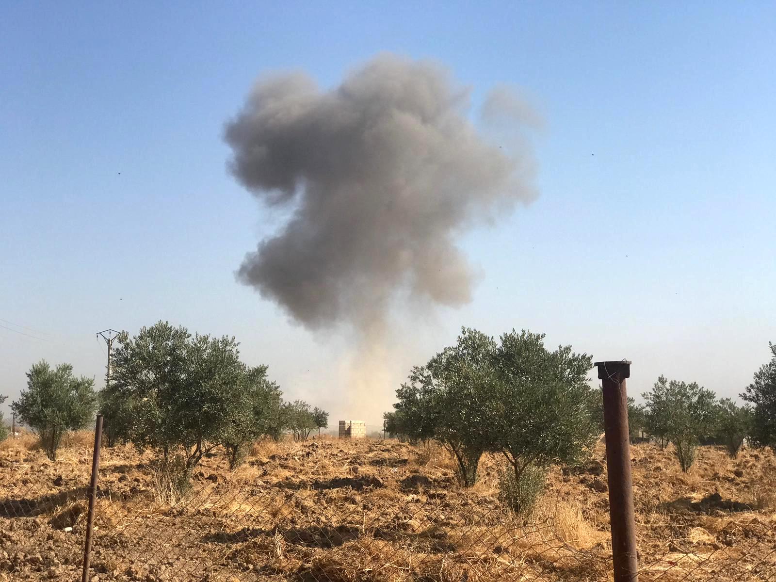 قذيفة تركية على الأراضى السورية