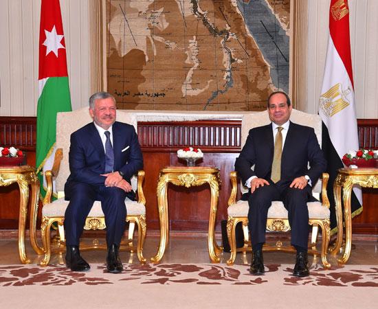 السيسى و الملك عبد الله الثانى (1)