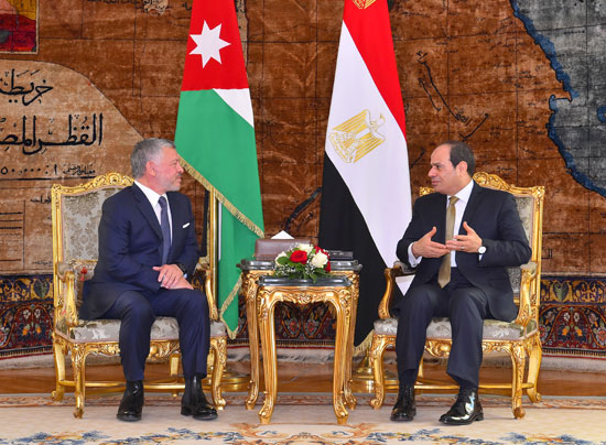 السيسى و  الملك عبد الله الثانى (7)