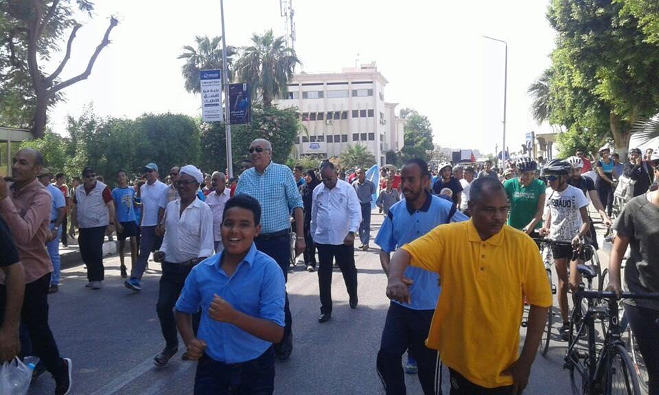 فعاليات المسيرة للمشي بشوارع محافظة الاقصر (1)