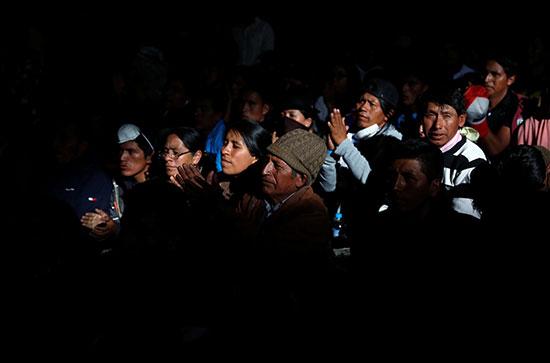 دفن المتظاهر الإكوادورى