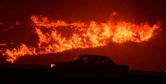 جانب من الحرائق