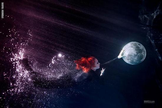 إحدى الصور التى التقطها مكيلة تحت الماء