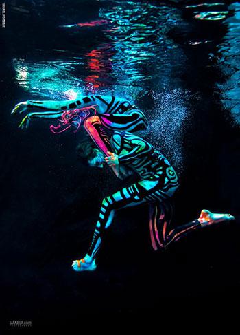 التموجات المائية تعطى قدرا من الإثارة على الأزياء