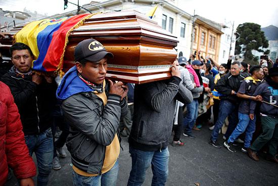 أعمال عنف سادت العاصمة كيتو خلال الأيام الماضية