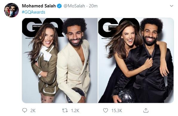 محمد صلاح مع عارضة الازياء اليساندرا4