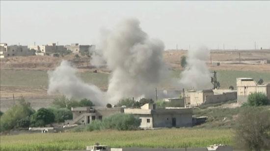 هجوم القوات التركية فى تل أبيض