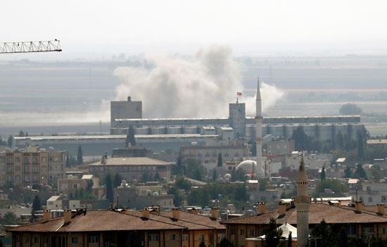 القصف التركي على بلدة رأس العين