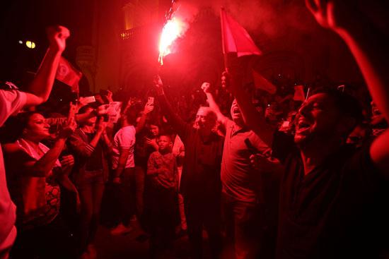 جانب من الاحتفال فى شوارع تونس
