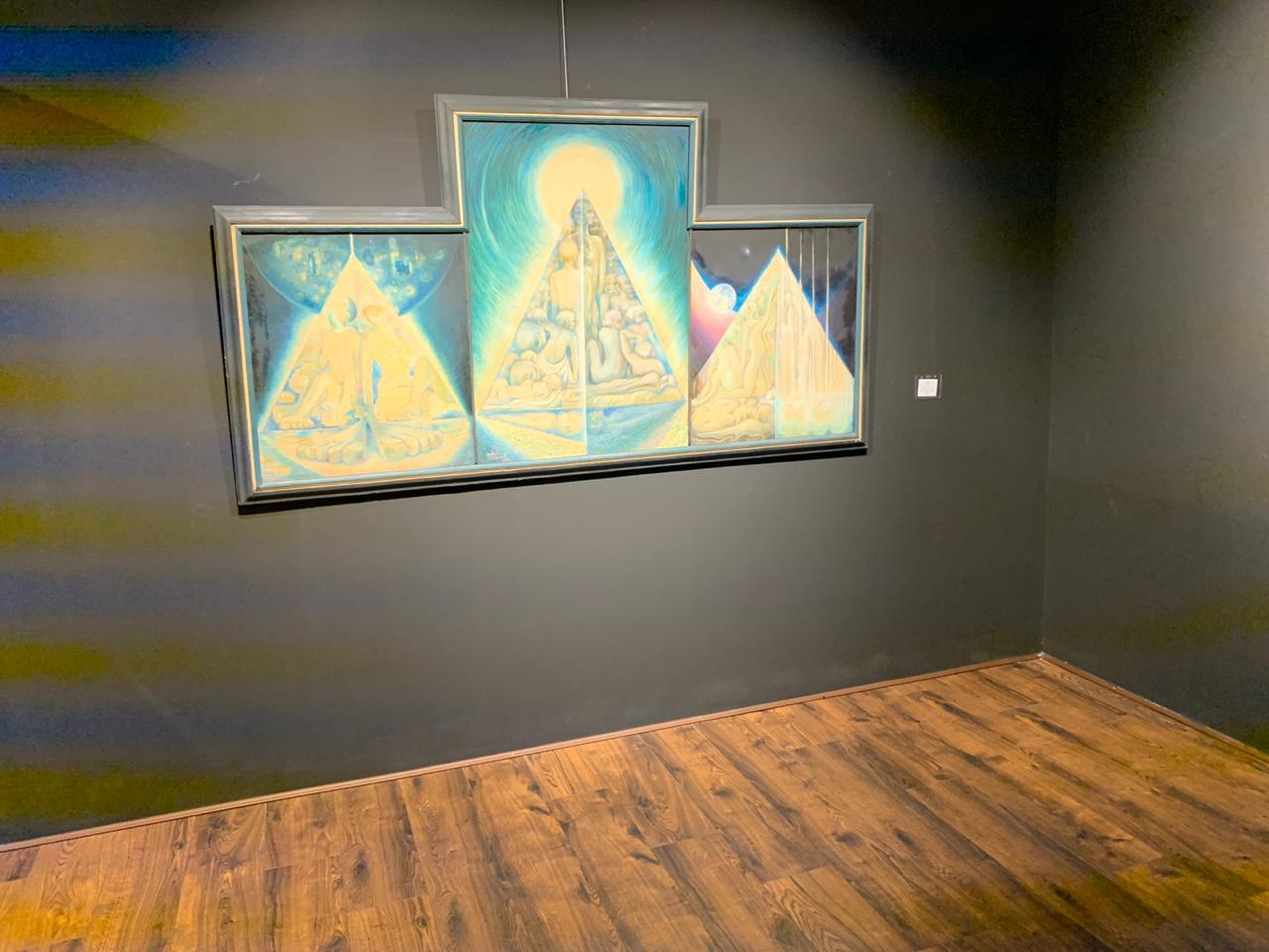 لوحة من  لوحات معرض حول الذات والروح (3)