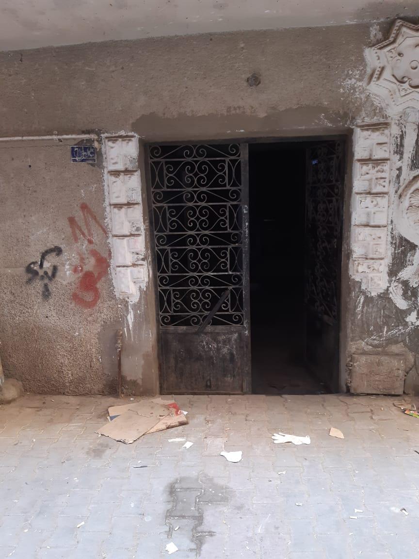 مدخل العقار الذى شهد الجريمة