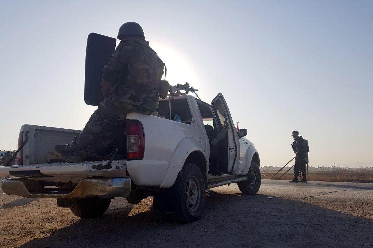 انتشار الجيش السورى على الحدود مع تركيا