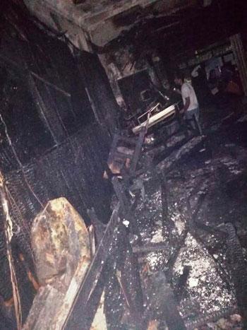 أثار-الحريق-على-الكنيسة