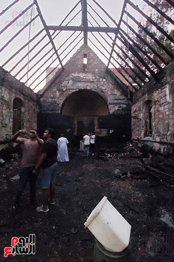 كنيسة-مارجرجس-بعد-الحريق