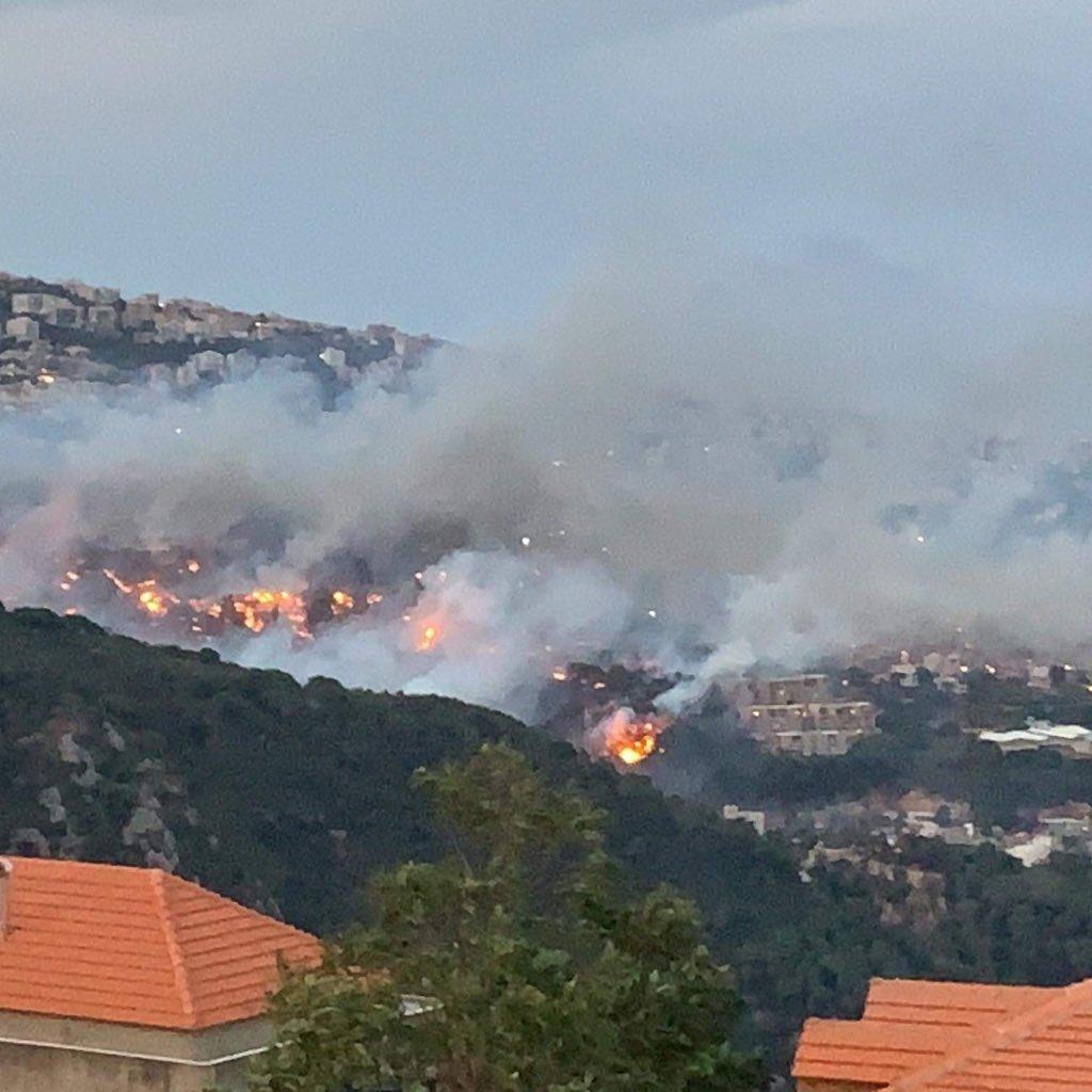 9- حرائق  لبنان