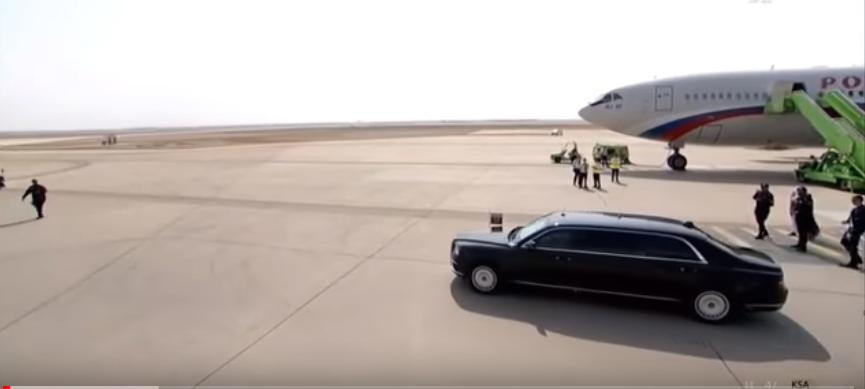 سيارة الرئيس الروسى و طائرته خلال وصوله للسعودية