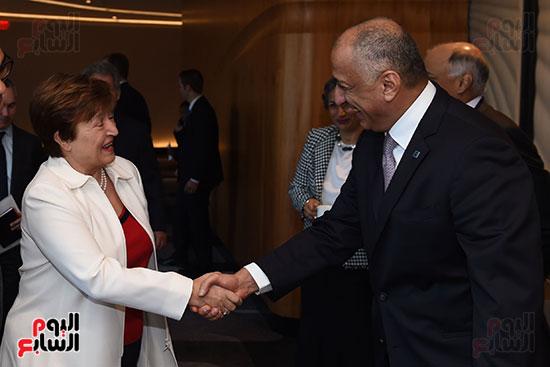 مصطفى مدبولى رئيس الوزراء يلتقى رئيسة صندوق النقد الدولى (1)