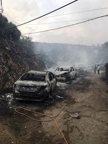 أثار-حرائق-لبنان