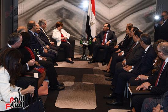 مصطفى مدبولى رئيس الوزراء يلتقى رئيسة صندوق النقد الدولى (5)
