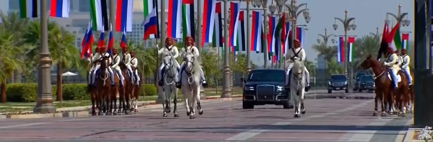 سيارة الرئيس الروسى بقصر الأمة بالإمارات