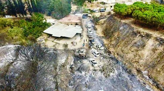 قرية-المشرف-بعد-السيطرة-على-الحريق