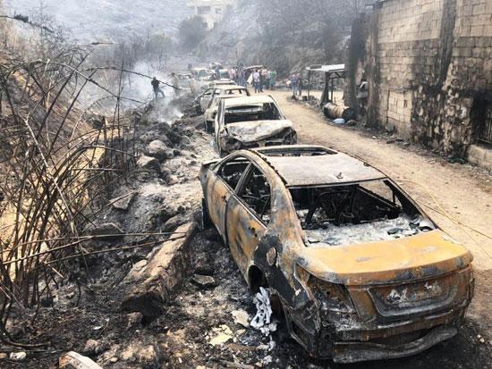 الحرائق-تتسبب-فى-دمار-السيارات